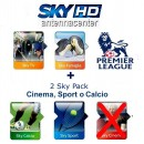 Sky Italia Subscription SkyTV + Famiglia + Calcio + Sport + Premiere League<br /> 12 Months